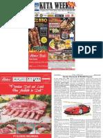 "Kuta Weekly - Edition 585 ""Bali's Premier Weekly Newspaper"""