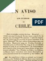 Un aviso a los pueblos de Chile. José Miguel Carrera