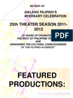 Tanghalang Pilipino's 25th Season Presentation