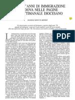 Quarant'anni di immigrazione a Padova nelle pagine del settimanale diocesano
