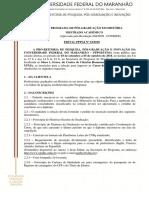 Edital Mestrado UFMA História 2019