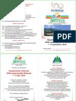 Program Zilele Municipiului Moinesti