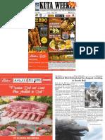 "Kuta Weekly - Edition 590 ""Bali's Premier Weekly Newspaper"""