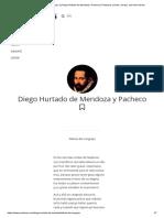 Fábula Del Cangrejo, By Diego Hurtado de Mendoza