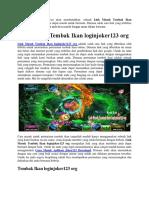 Link Masuk Tembak Ikan Loginjoker123 Org