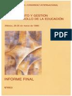 UNESCO. Congresso Planejamento Mexico 1990