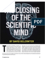 Gelernter the Closing of the Scientific Mind