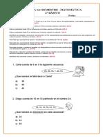 2º Básico (2)Matematicas Prueba Semestral