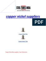 Copper Nickel Suppliers