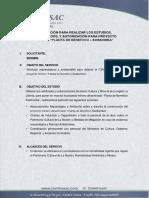 Cotización Para Realizar Los Estudios Planta Beneficio Coscomba