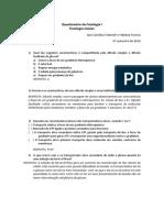 GABARITO Questionario Fisio Celular