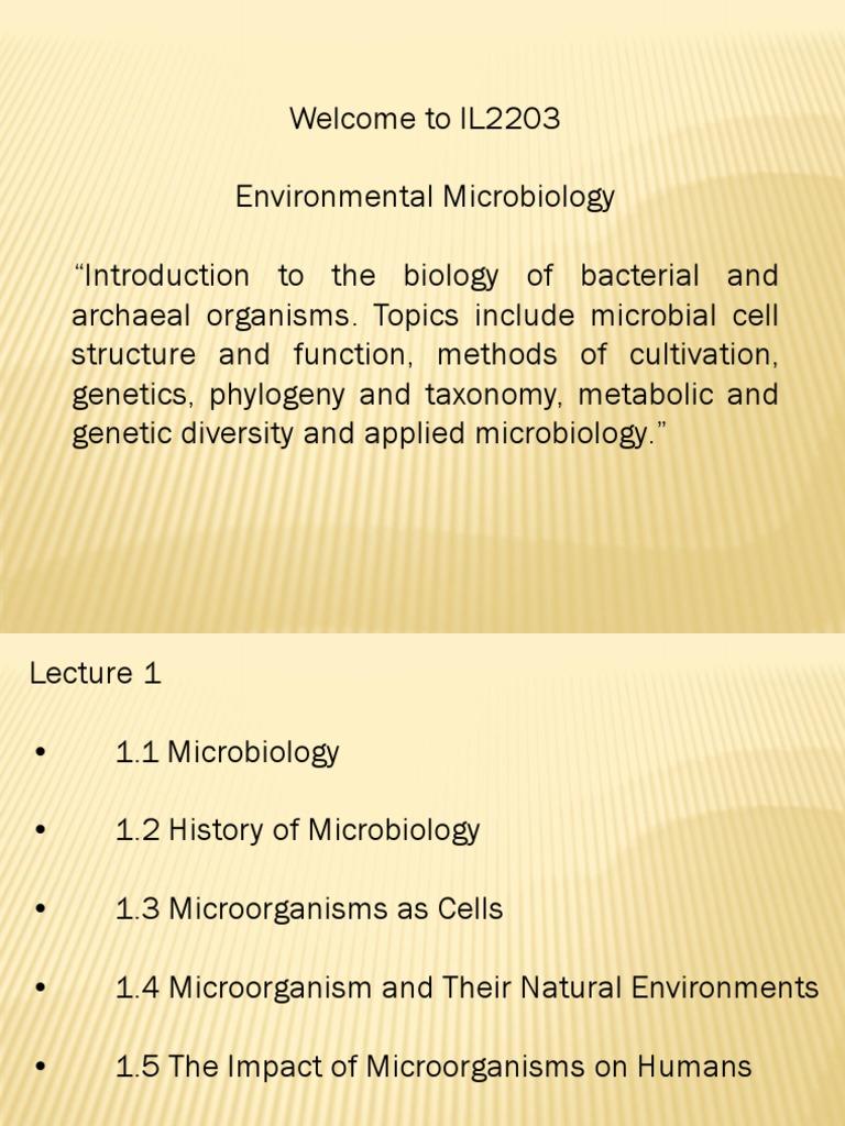 environmental microbiology topics