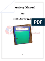 Hot Air Oven Lab Manual