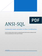 ANSI SQL - Commonly Made Mistakes Ebox