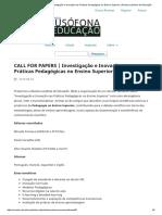 CALL FOR PAPERS _ Investigação e Inovação nas Práticas Pedagógicas no Ensino Superior _ Revista Lusófona de Educação.pdf