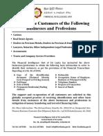 CBSL Notice to Customers DNFBPS-English
