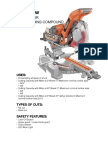 chop saw fact sheet