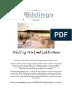 2010 Wedding Weekend Celebrations