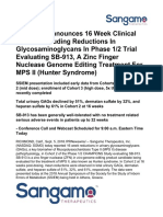 2018-09-05 Sangamo Announces 16 Week Clinical Results 423