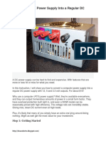 Convert ATX to DC Power Supply