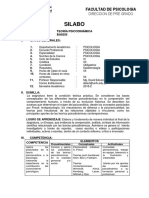 SilaboTeoría Psicodinamica 2016-2_IV C
