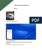 Statistica manual de instalación