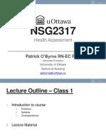 NSG2317 - Lecture 1 - Intro_HealthHx