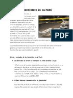 El Homicidio en El Perú