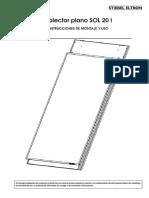 Energia Solar Colector Plano Alto Rendimiento (Instrucciones Montaje y Uso)
