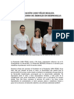 04-09-18 Fundacion Cano Velez  realiza El Primer Censo de Arboles