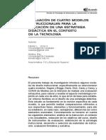 Evaluacion de cuatro modelos instruccionales para la aplicacion de una estrategia didactica en el contexto de la tecnologia.pdf