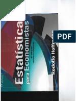Estatistica Para Economistas Hoff PDF