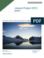 Carbon Disclosure Project Report 2010