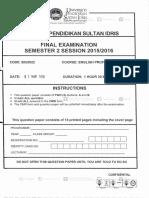 Soalan English Proficiency 2 Biu2022
