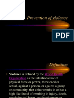Prevention of Violence