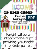 open house - kindergarten hahn