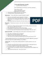 Investing Principles Checklist