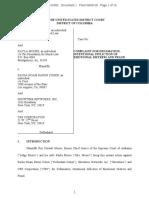 Roy Moore lawsuit against comedian Sacha Baron Cohen
