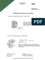 Engine number postitions on Chrysler, Jeep, Dodge vehicles