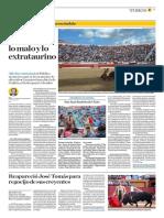 El Comercio (Lima-Peru) Lun 2 Julio 2018 (Pag A25) Pagina Taurina