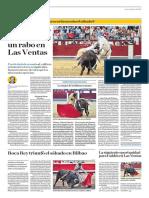 El Comercio (Lima-Peru) Lun 11 Junio 2018 (Pag A30) Pagina Taurina