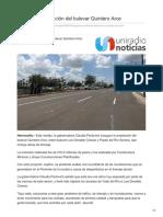 04-09-2018-Inauguran ampliación del bulevar Quintero Arce - Uniradionoticias