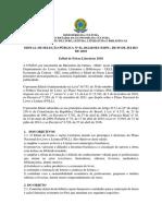 Edital Feiras Literárias 2018.