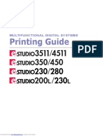 Toshiba e-Studio 350 Printing Manual