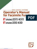 Toshiba E-STUDIO3511 Operator's Manual