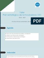 Plan Estratégico Incubadora 1551