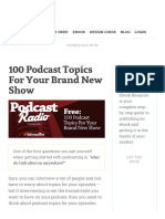 100 Podcast Topics For Your Brand New Show.pdf
