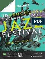 TD Vancouver International Jazz Festival Program Guide 2018