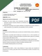 Daniel Gutierrez Informe 10 Cremas