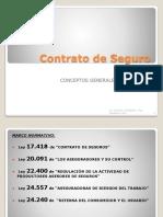 Contrato de Seguro Concepto. Elementos